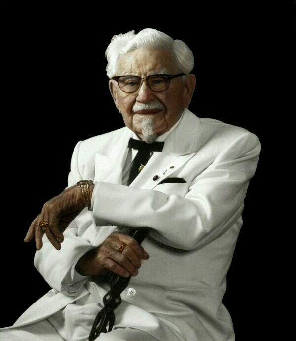 Harland David Sanders a.k.a. Colonel Sanders, founder of Kentucky Fried Chicken