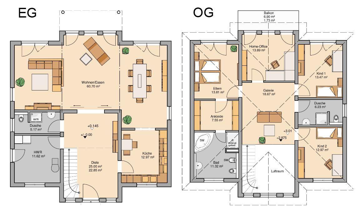 Stadtvilla Bauen Exklusives Haus In Stadtn U00e4he Floor Plans Diagram