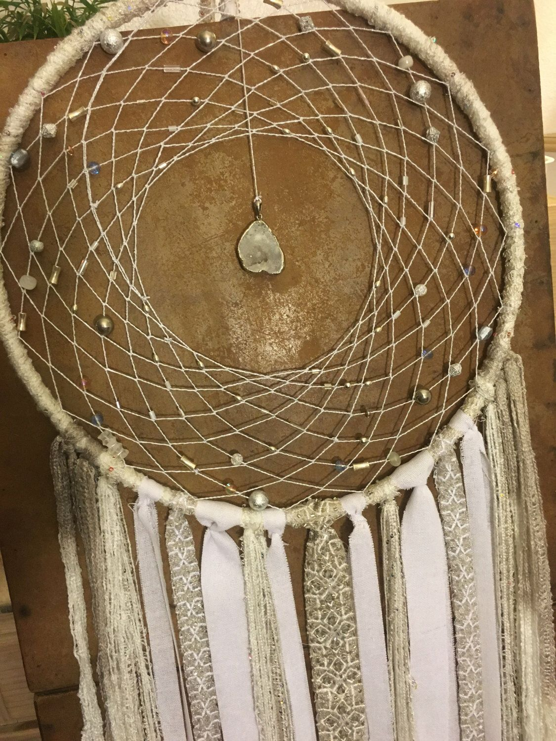 Crystal stone dreamcatcher by sbdreaming on etsy sy