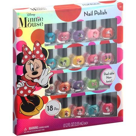 Disney Minnie Mouse Nail Polish Gift Set 18 Pc All They