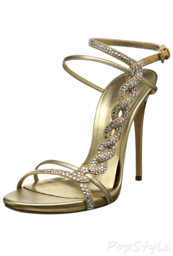 Casadei Dressy Italian Suede Sandal with Swarovski Crystals ... d21310980a7