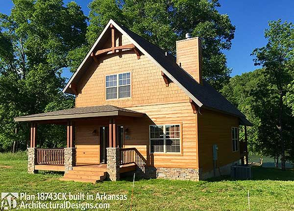 plan 18743ck: classic small rustic home plan | porch, lofts and house
