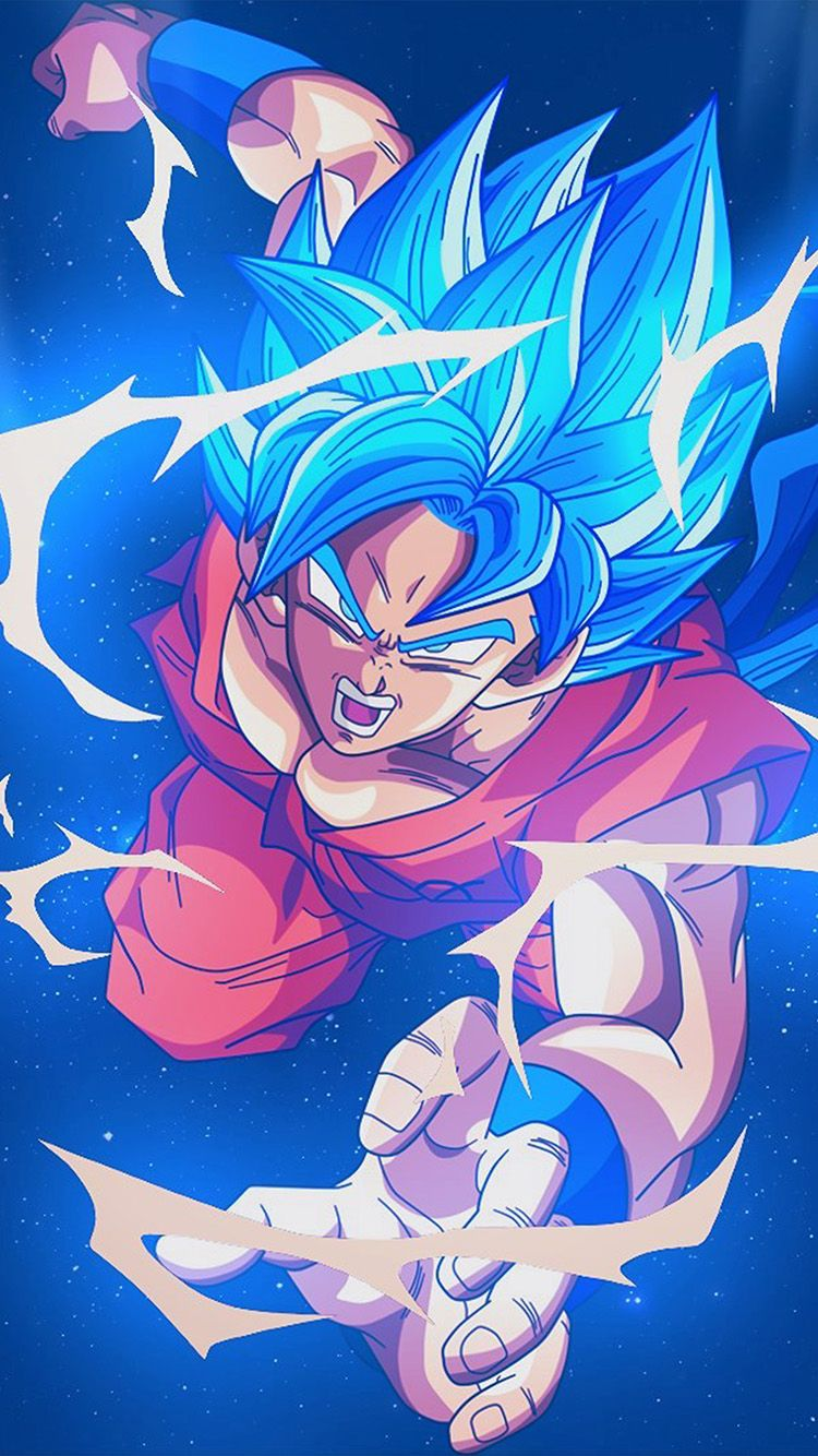 Bc54 Dragonball Goku Blue Art Illustration Anime Personajes De