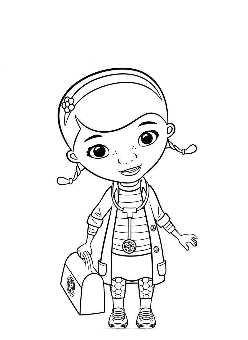 Doutora Brinquedos E Maletinha Paginas Para Colorir Criancas