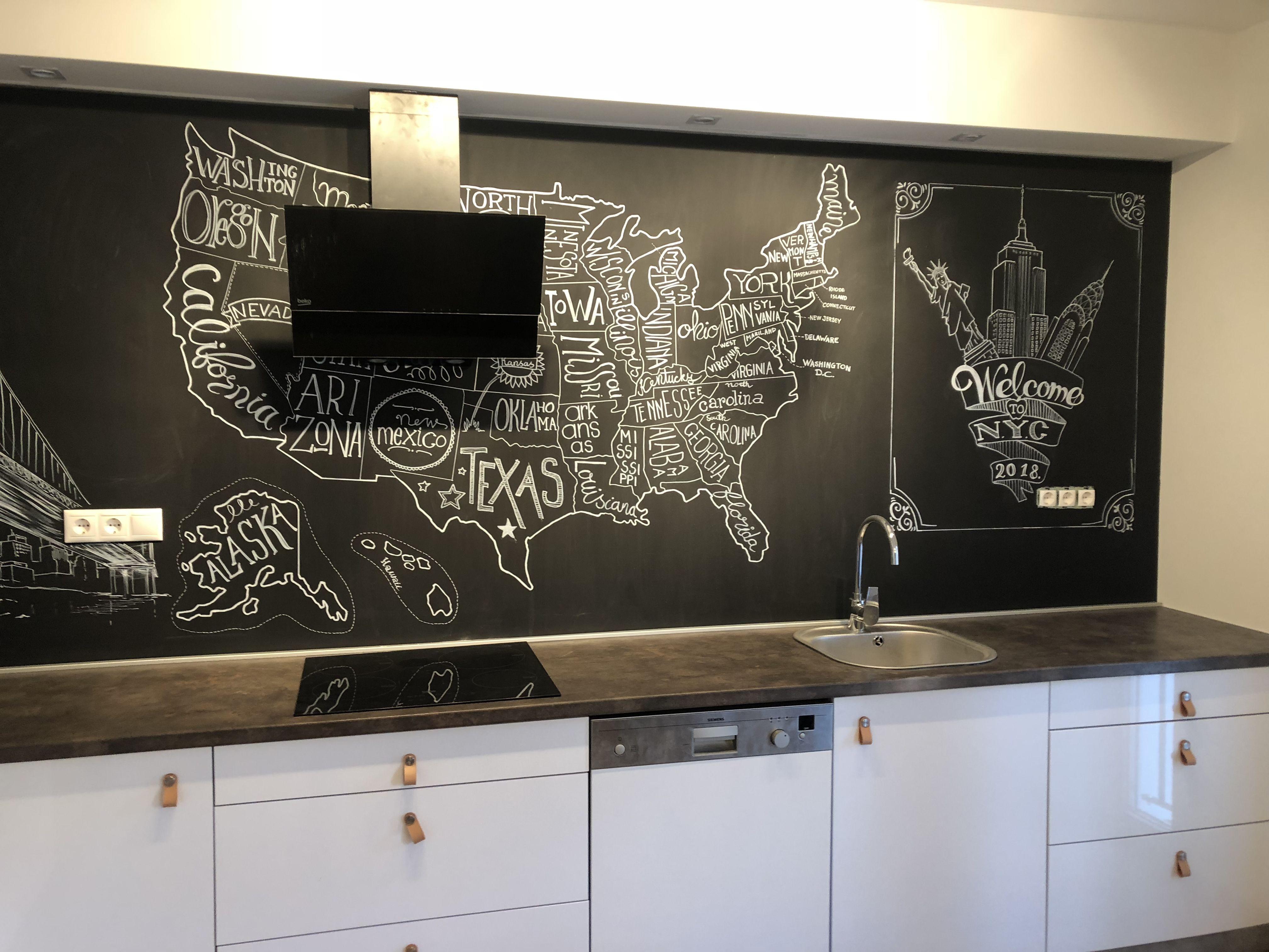 Kitchen Kitchendesign Chalkboard Chalkpaint Kitchen