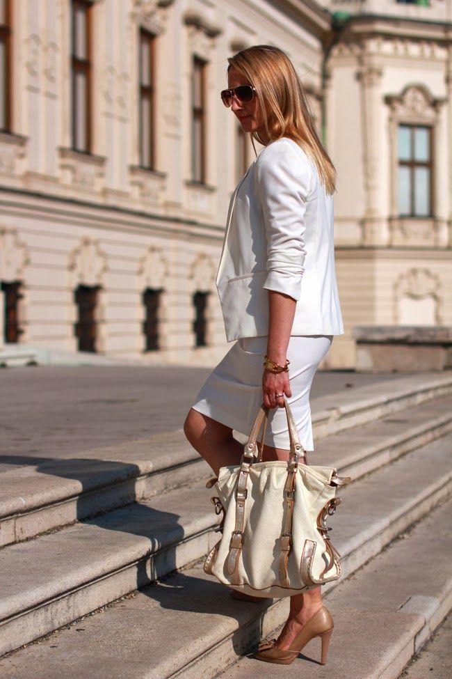 skirt - Zara / blazer - Mango / shoes - Tardi's / bag - Kesslord / top - Zalando / watch - Burberry / rings - LookbookStore, engagement ring / necklace - Dyrberg Kern / sunglasses - Asos