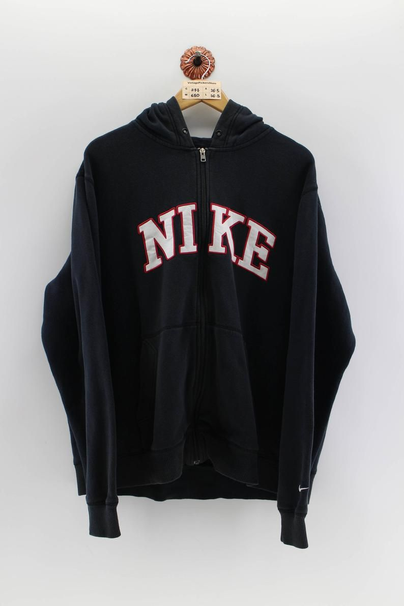 e2b3b2a11446d Vintage NIKE SpellOut Pullover Hoodie Unisex Xlarge 90s Nike ...