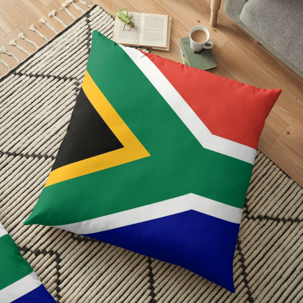 South Africa Wrinkled Flag Flag Africa South Africa