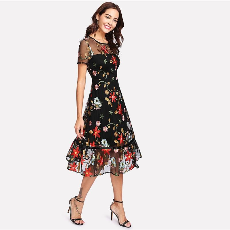 ae997a900524a5 Fiona Floral Dress | Dresses in 2019 | Dresses, Sweater over dress