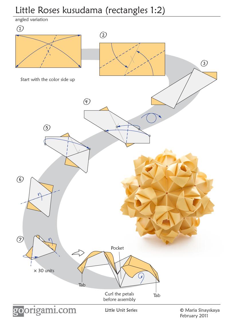 Origami Little Roses Kusudama Pinterest Rose Flower Diagram By