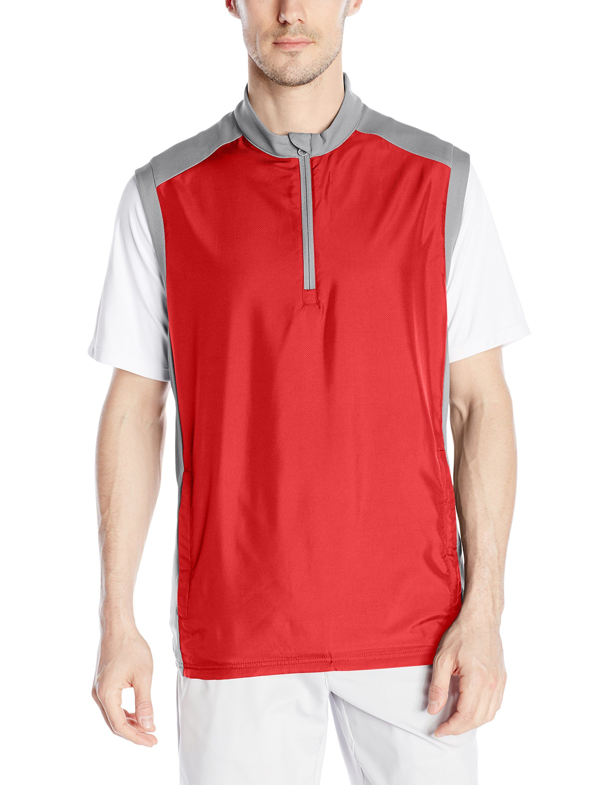 1cbd83772 Men Golf Clothing *** adidas Golf Mens Club Wind Vest Power Red Medium **  Click image to evaluate more information. (This is an affiliate link).