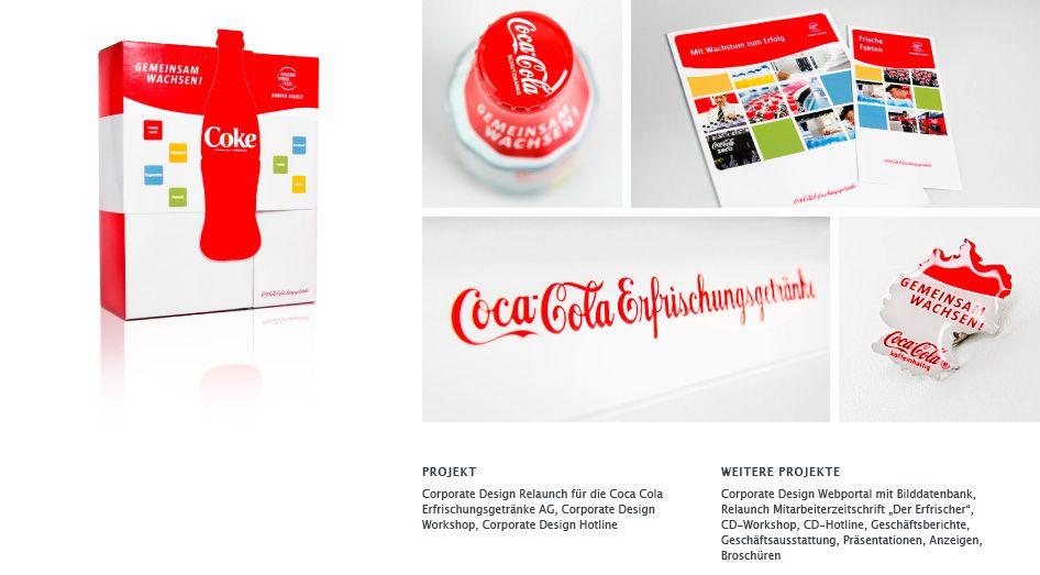 Corporate Design Relaunch Coca Cola Erfrischungsgetränke AG ...