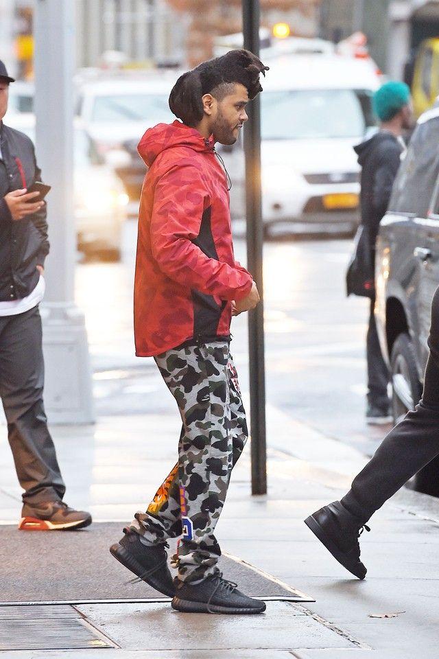 350Bape Camo Weeknd Yeezy Boost Adidas Wearing Rain The Jacket CQrxtshd