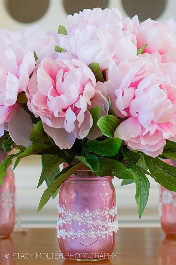 Mother S Day Diy Mason Jar Flower Bouquets Valentine Day