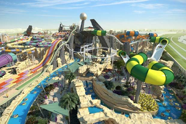 Spanning An Area Of Around 15 Football Pitches The Futuristic Yas Waterworld Aqua Park Invites You To 43 Rides Slides Attract Water Park Waterworld Tourist