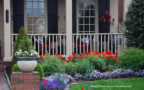 Front Porch Appeal Newsletter April 2012 Online Magazine For Front Porch Ideas And More Front Porch Landscape Porch Landscaping Front Porch Garden