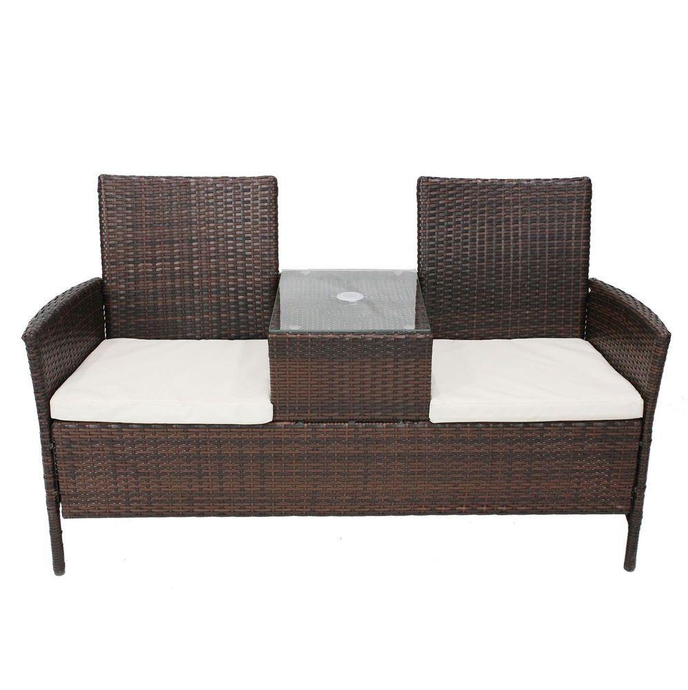 bentley garden rattan companion seat love duo jackjill wicker bench cushions - Garden Furniture Table Bench Seat