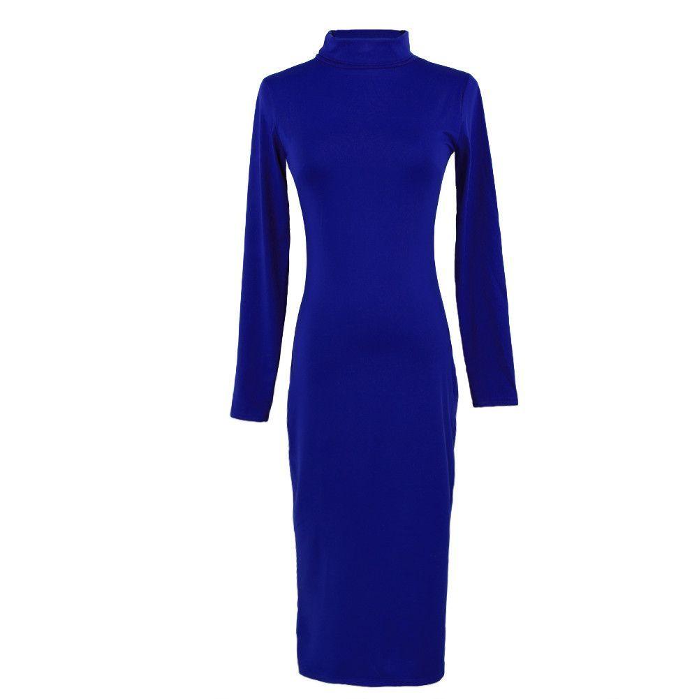 Turtle Neck Long Sleeve Dress | Products | Pinterest | Dress ...