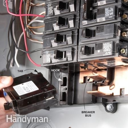 breaker box safety how to connect a new circuit xx. Black Bedroom Furniture Sets. Home Design Ideas