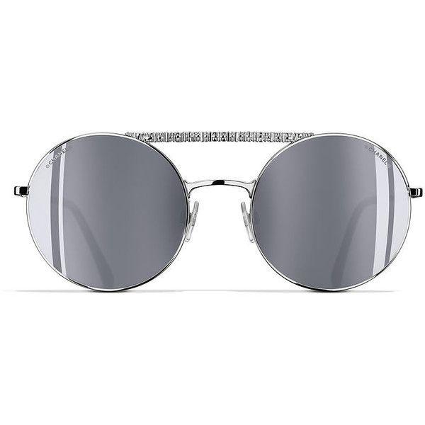 578f542da2 CHANEL Round Sunglasses 53 Silver   Silver Sunglasses