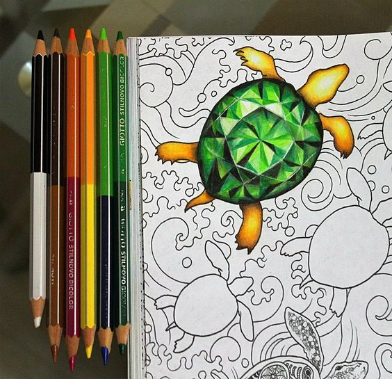Image Result For Animorphia Turtles TurtlesFishColoringCleverDrawings