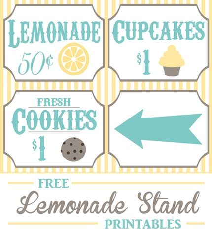 Free Lemonade Stand Printables Kids Lemonade Diy Lemonade Kids Lemonade Stands