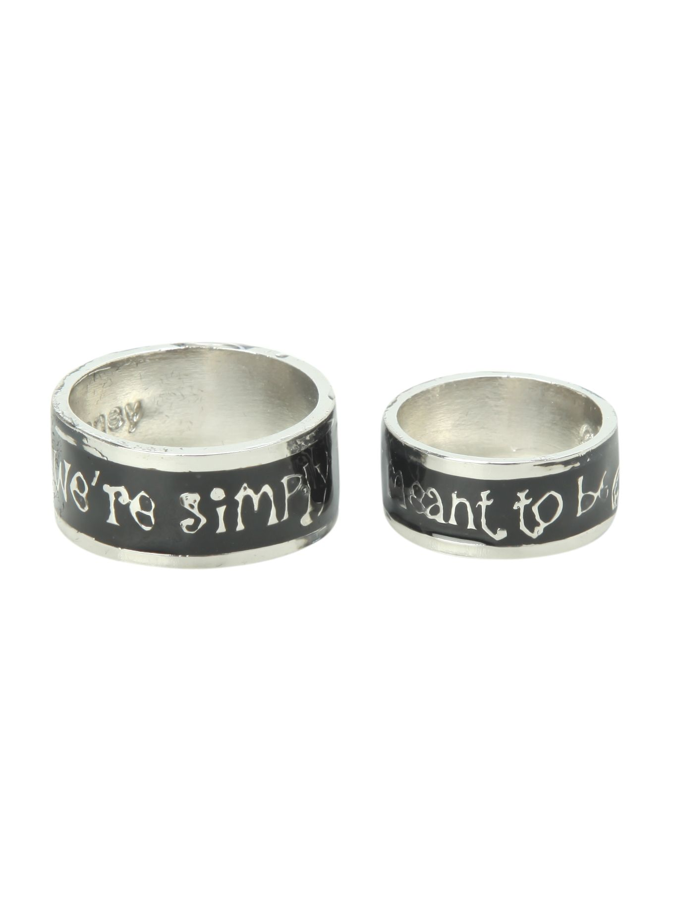 Disney Nightmare Before Christmas His And Hers Ring Set
