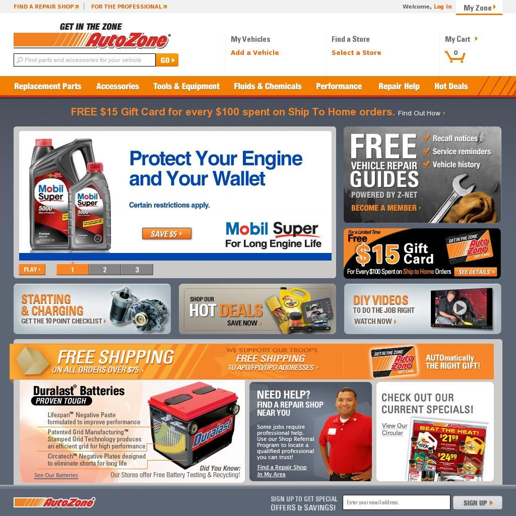 """Details: Get the tools and parts you need sooner rather than later with AutoZone's same day store pickup. Choose from thousands of eligible items, choose the """"Store Pickup"""" option, complete your order and wait for an email notification that your order is ready."""