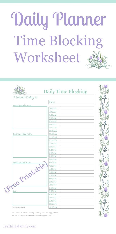 time management daily time blocking worksheet time management productivity and worksheets