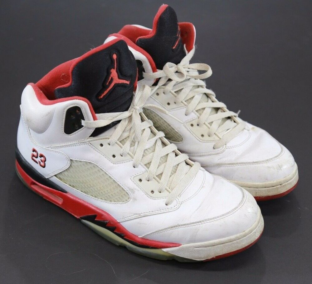 """low cost cf551 e4f12 Nike Men s Air Jordan 5 Retro """"Fire Red"""" 2013 High Top Athletic Shoes Size  13  Nike  BasketballShoes"""
