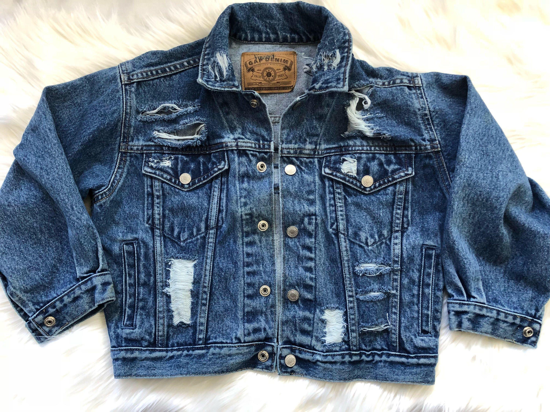 Denim Jacket 10 Distressed Jeans Trendy Kids Clothes Ripped Etsy Trendy Kids Outfits Distressed Jeans Outfit Edgy Kids Clothes [ 2250 x 3000 Pixel ]