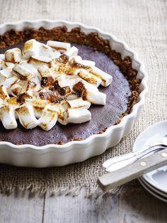 Chocolademarshmallowtaart - Libelle Lekker