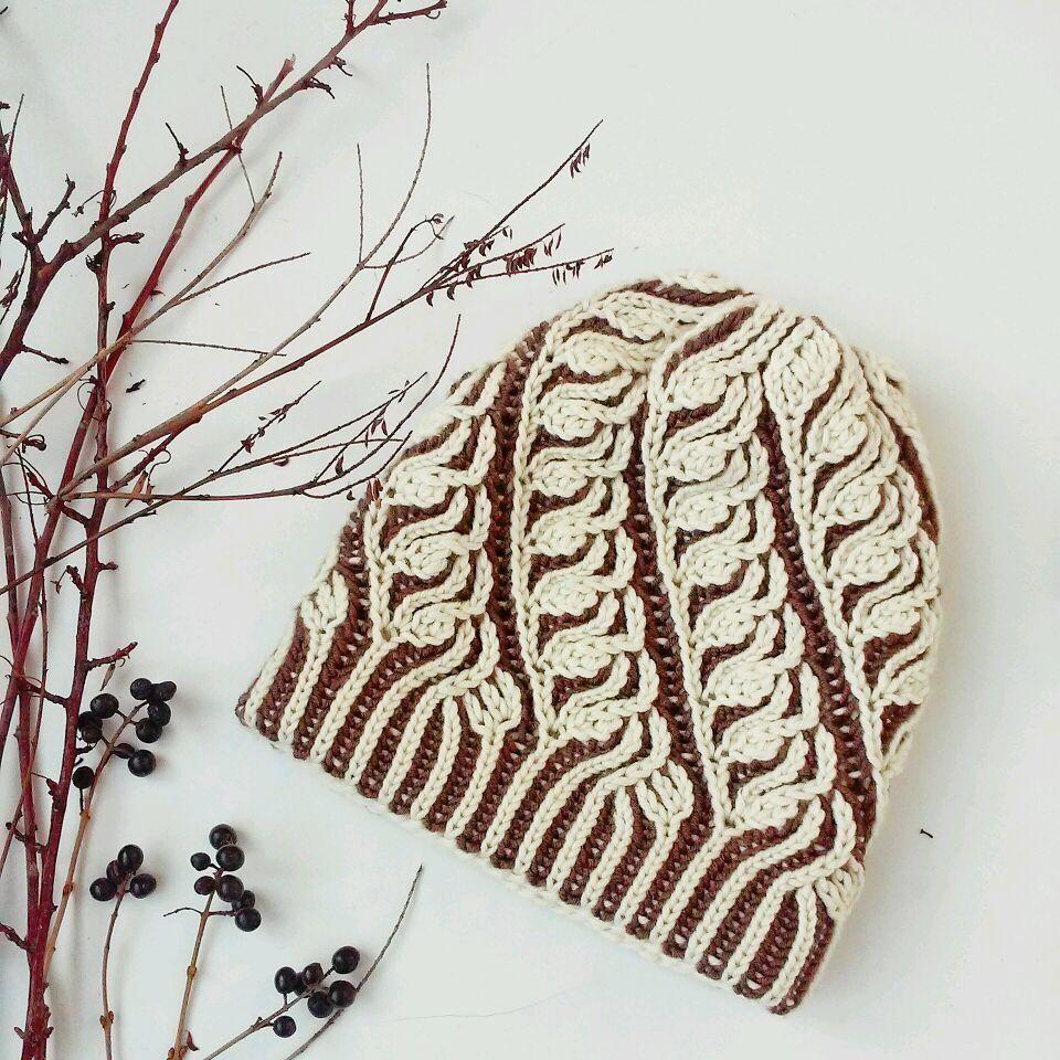шапочка в технике бриошь | Вязание спицами | Pinterest | Ganchillo ...
