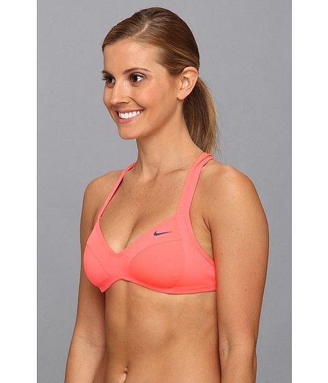 17e4a83008cbd Nike Bondi Solids Racerback Bra Top Hot Punch - Zappos.com Free Shipping  BOTH Ways