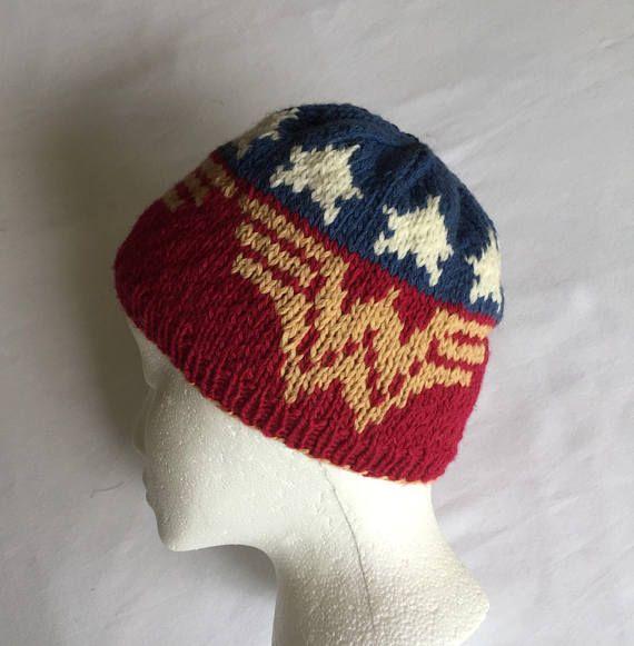 Original Knitting Pattern Wonder Woman Hat Knitting Pattern In 3