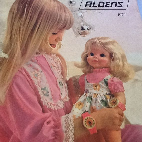 1971 Aldens Catalog Featuring Timey Tell Doll on by MellowdieMod