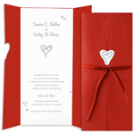 Printable Wedding Invitation Kit - Hidden Heart Silver
