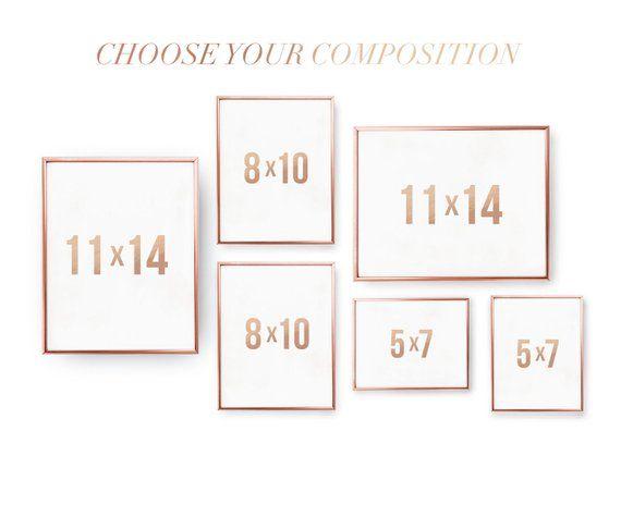 Photo of Set of 6 Prints, Custom Set, Custom Poster, Rose Gold Foil Print, Your Composition Set, Custom Print