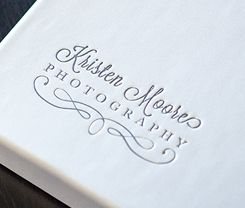 Foil Stamping on Premium set-up box. Perfect for imprinting photographer's logo.