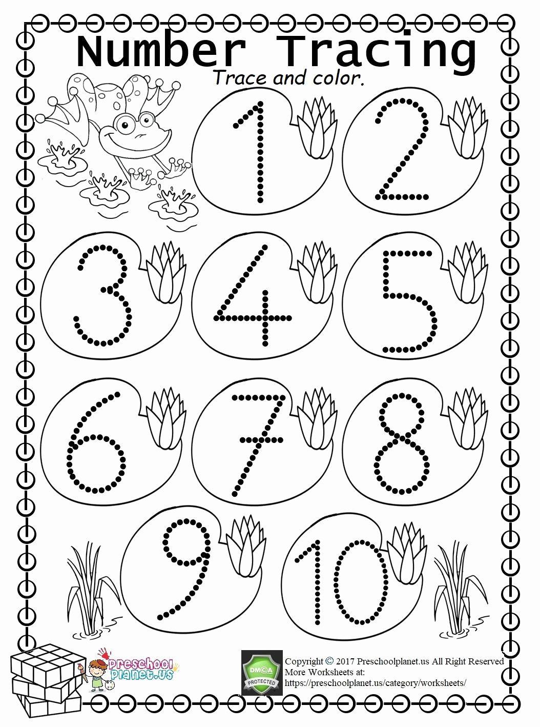 Preschool 11 Tracing Worksheet In