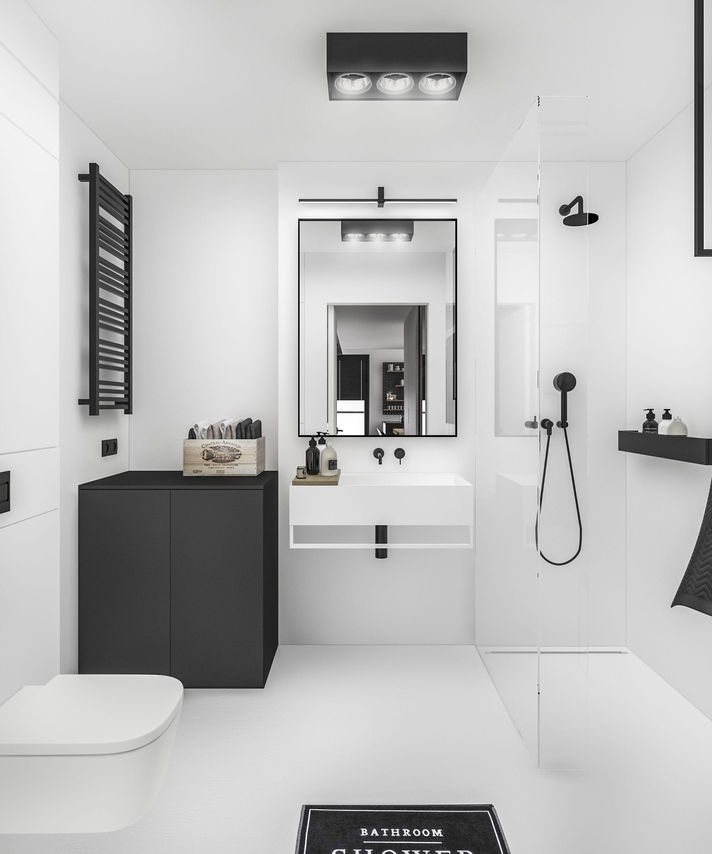 Zwart wit - Bathroom | Pinterest - Zwart wit, Zwart en Badkamer