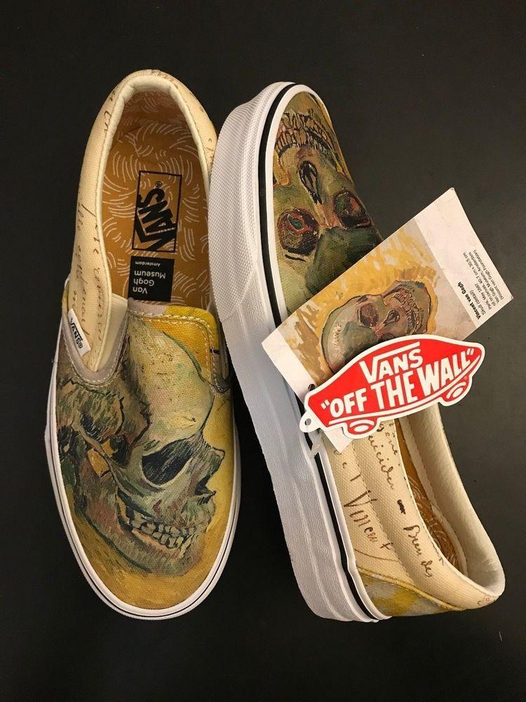Vans X Van Gogh Classic Slip On Skull Men S Us Size 5 5 Women S Us Size 7 Vans Skateshoes Find Great Deals For Vans X Vincent V Sneakers Slip On Sneaker Vans
