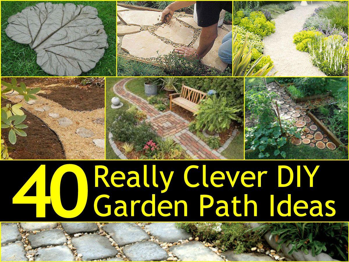 40 Really Clever DIY Garden Path Ideas | Pinterest | Garden paths ...