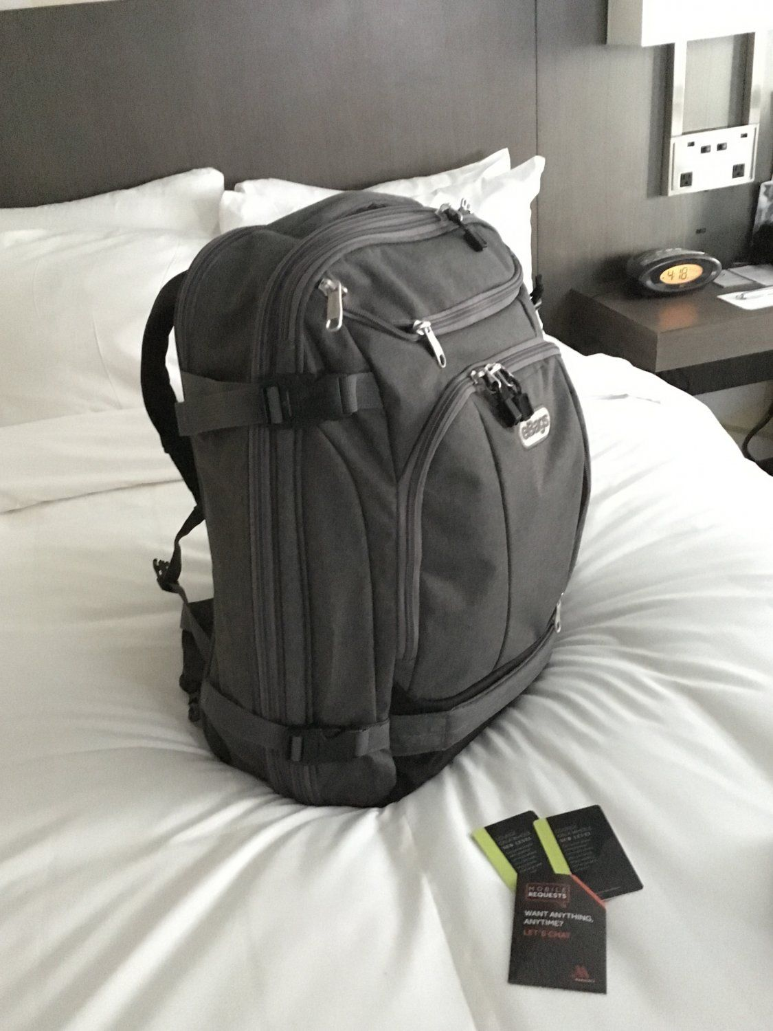 eBags TLS Mother Lode Weekender Convertible Junior Travel Backpack -  Heathered Graphite grey. 19.5 x14 x9 . This ultimate carry-on travel ba c33c45ef12d65
