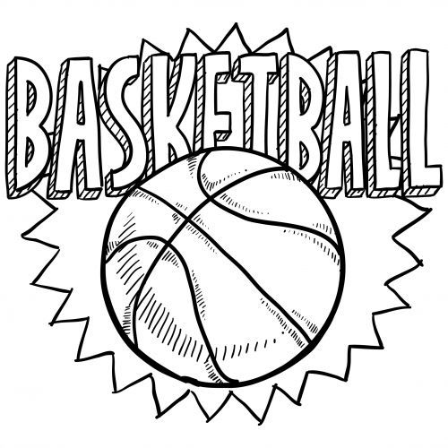 Sports Coloring Pages – Basketball #2 – KidsPressMagazine.com