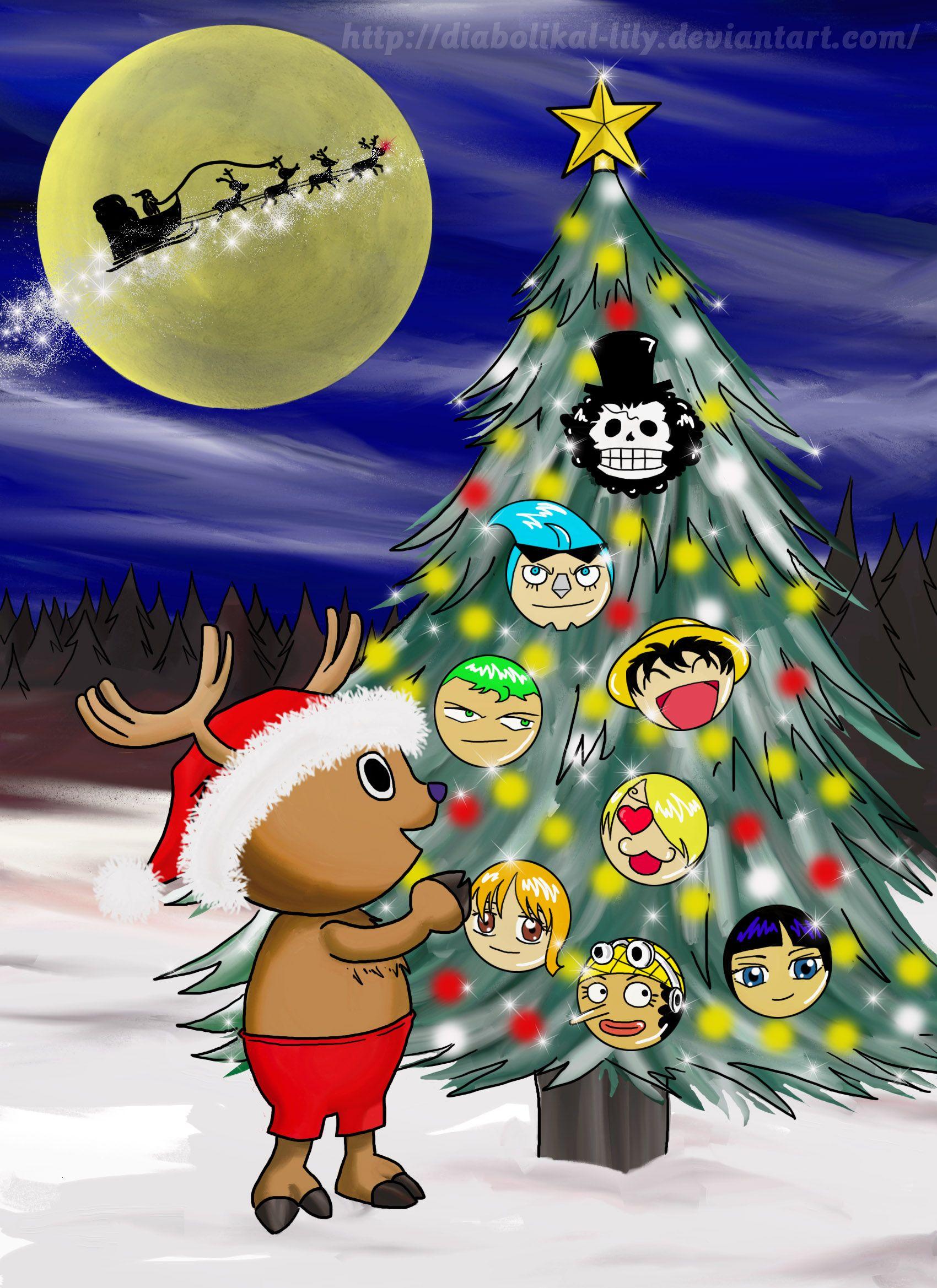 Meery Christmas One Piece Xoxo Anime Christmas Anime Crafts Holiday Wallpaper