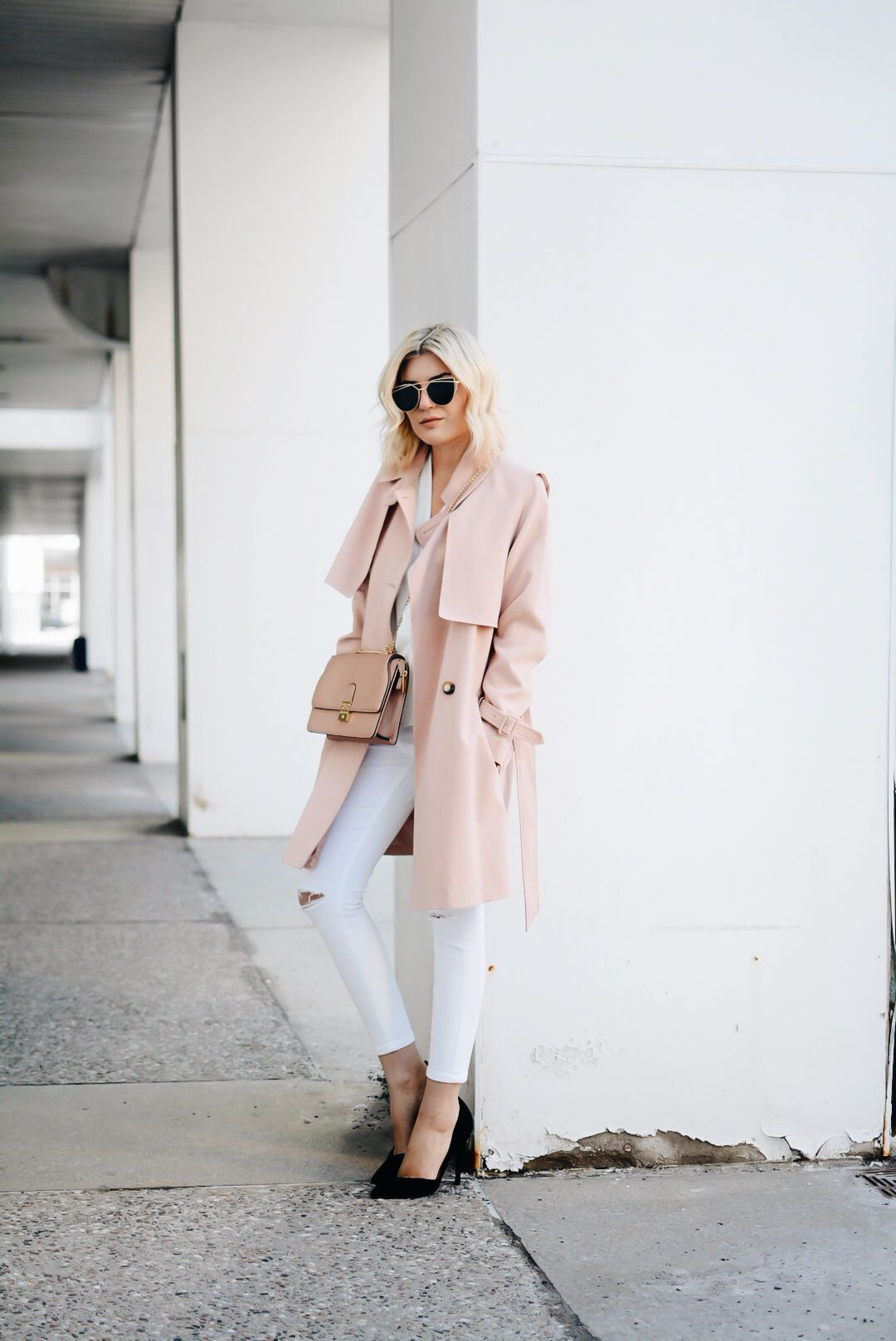 40 Trench Coat Outfits To Give You That Inspiration You Need Just The Design Pink Trench Coat Bloglovin Fashion Pastel Pink Coat [ 1616 x 1080 Pixel ]