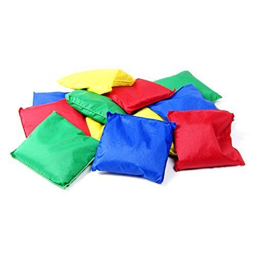 "Adorox Educational Products - 5"" Assorted Nylon Reinforced Bean Bags [Kids Toy] (Assorted (12 Bags)), 2015 Amazon Top Rated Beanbags & Foot Bags #Toy"