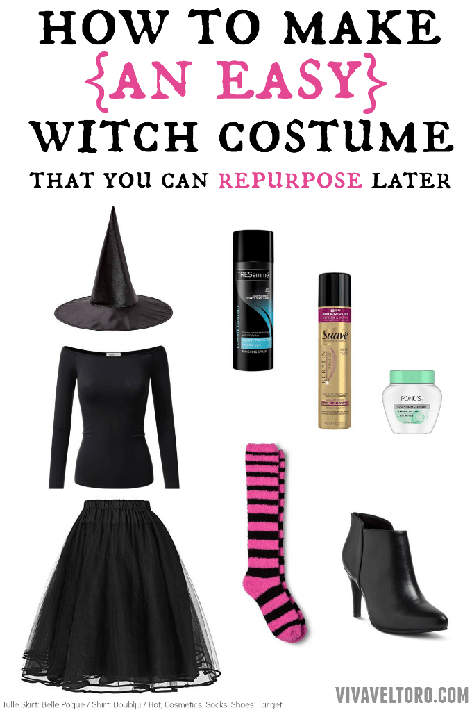 Easy Witch Costume That You Can Repurpose Later Homemade