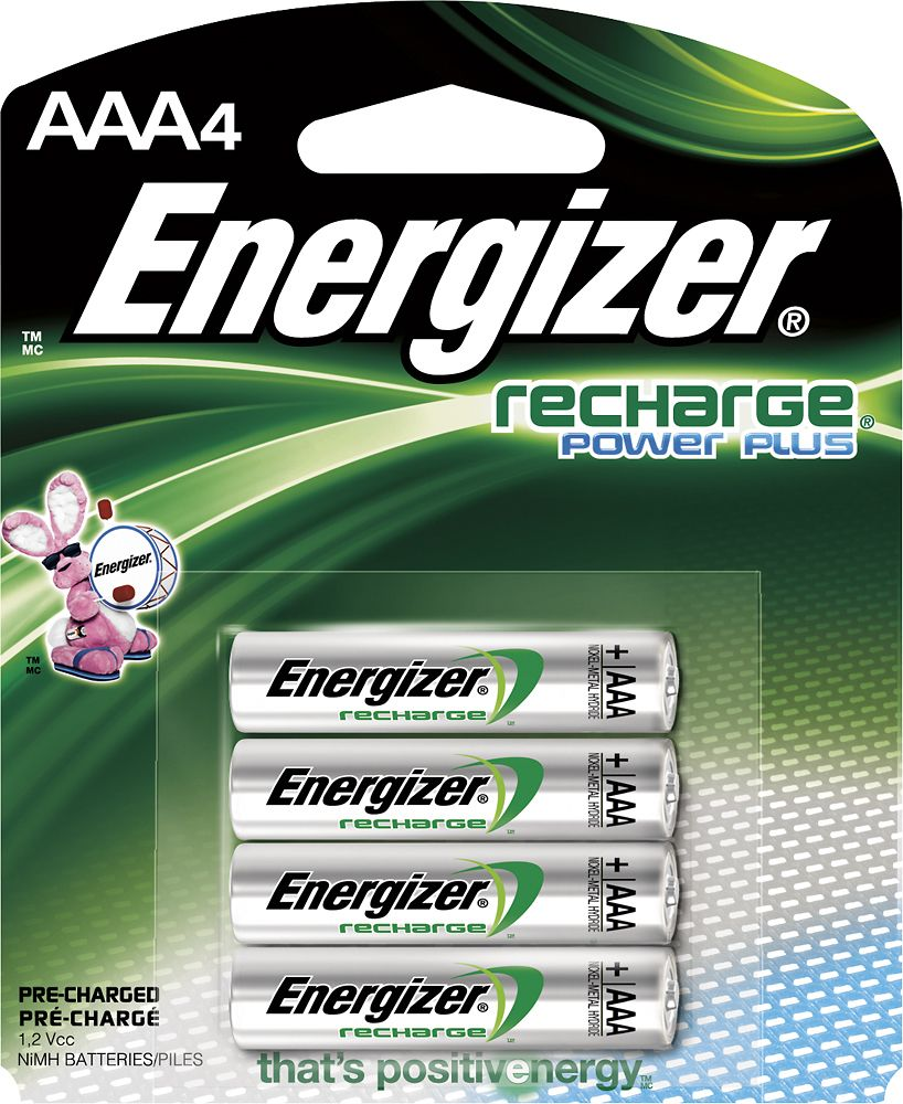 Energizer Recharge Power Plus Rechargeable Aaa Batteries 4 Pack Nh12bp 4 Best Buy In 2021 Energizer Rechargeable Batteries Nimh